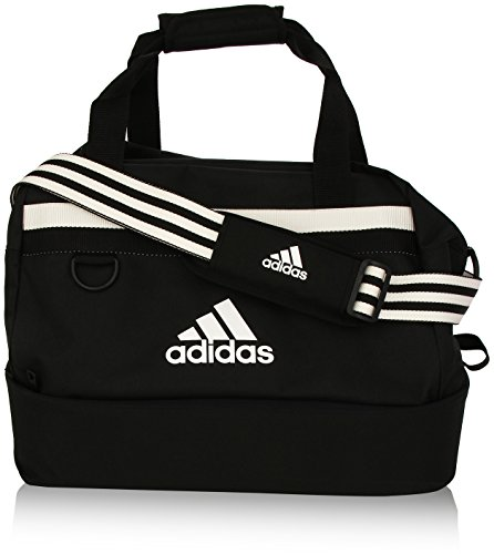 adidas Unisex Fußballtasche Tiro15, schwarz/weiß,54cm x 28 cm x 27 cm, 32 literss, S30259