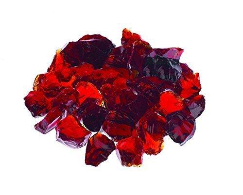 RED Premium Outdoor Fire Glass Rock 5-Pound 1/4