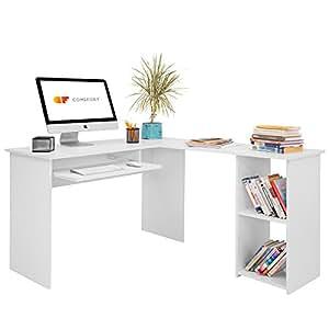 Comifort escritorio t06b forma l mesa de ordenador - Como hacer una mesa de ordenador ...