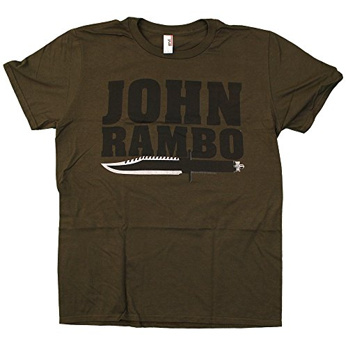 Rambo - Jonbo Knife - army green fitted t-shirt, Size: X-Large, Color: Green