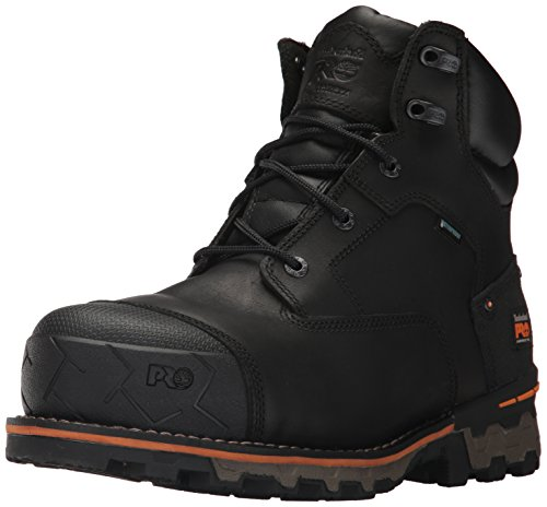 Timberland PRO Men's Boondock 6' Composite Toe Waterproof Industrial & Construction Shoe, Black Full Grain Leather, 10 M US