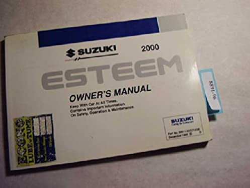 2000 suzuki esteem owners manual suzuki amazon com books rh amazon com Car Owners Manual singer esteem 1732 owners manual