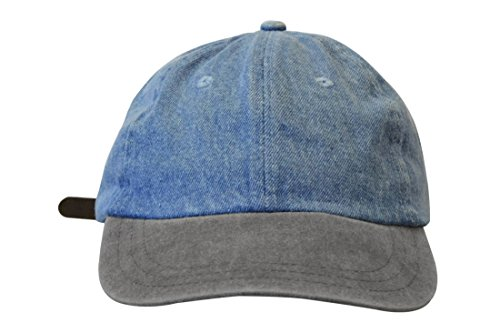 KC Caps Unisex Low-profile Two-Tone Cotton Denim Baseball Cap