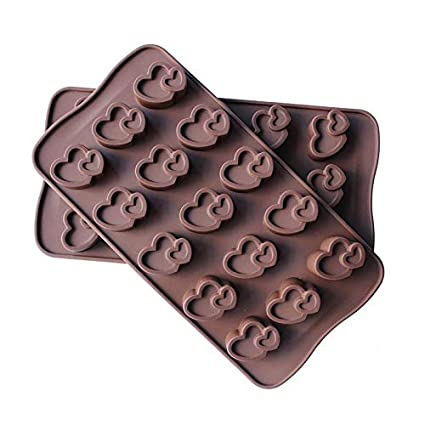 Mold Cake - 12 Grids Heart Shaped 3d Silicon Mold Cake Decorating Molde De Chocolate Moldes