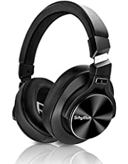 Wireless Active Noise Cancelling Headphones Bluetooth 5.0,Srhythm NC75 Pro Over-Ear Headset with Mic,Fast Charge,Hi-Fi,40 Hours Playtime for all Bluetooth Devices - 2019 Upgrated
