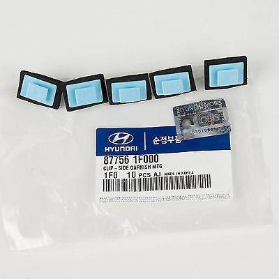 HYUNDAI (Pack of 5) Genuine OEM Kia Clip- Side Garnish MTG 87756-1F000 ()