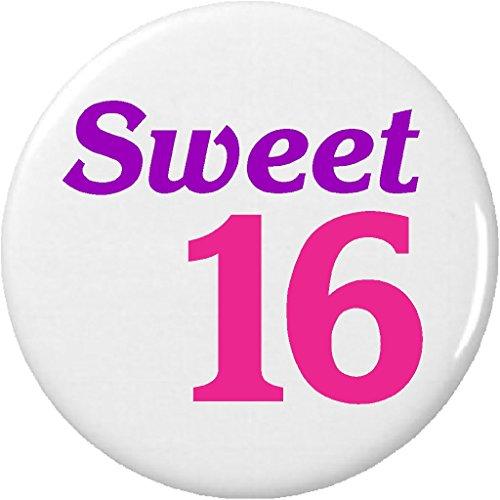16 Magnet Sweet (Sweet 16 (Pink/Purple) 2.25