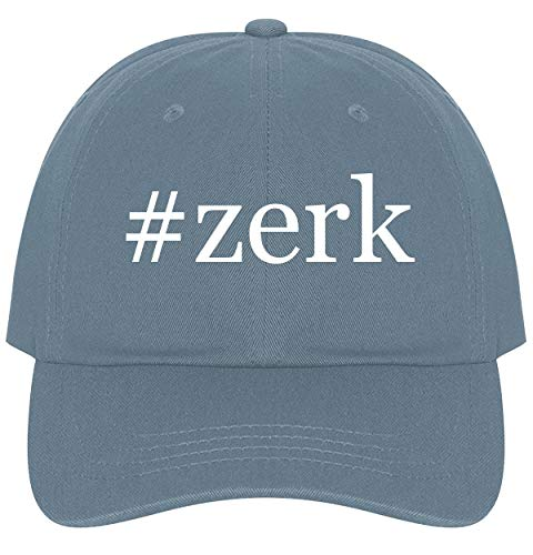 The Town Butler #Zerk - A Nice Comfortable Adjustable Hashtag Dad Hat Cap, Light Blue