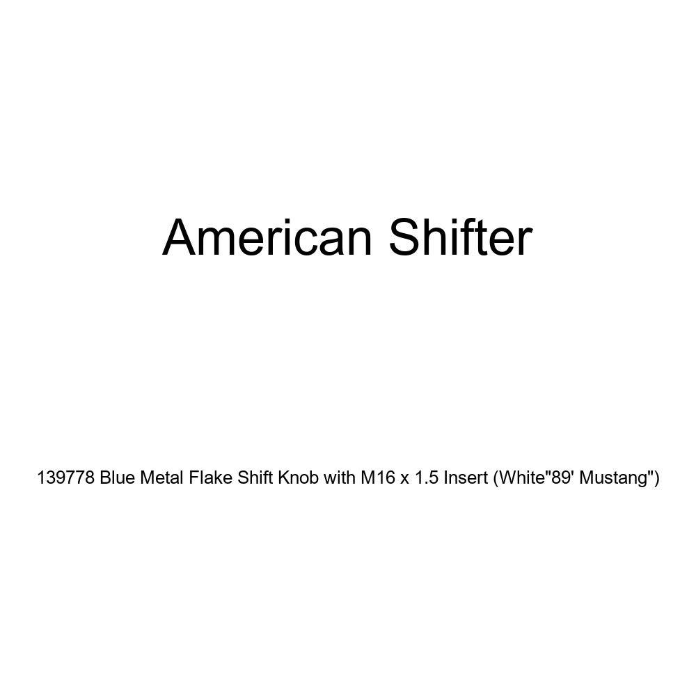 American Shifter 135111 Stripe Shift Knob with M16 x 1.5 Insert White 09 Master Gunnery Sergeant