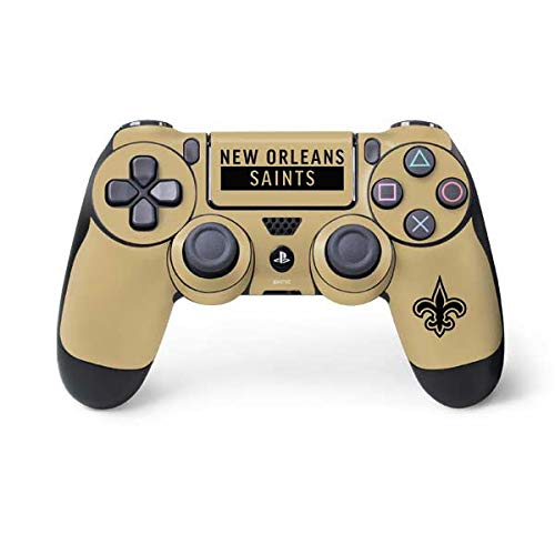 Controller New Saints Orleans (Skinit New Orleans Saints Gold Performance Series PS4 Controller Skin - Officially Licensed NFL Gaming Decal - Ultra Thin, Lightweight Vinyl Decal Protection)
