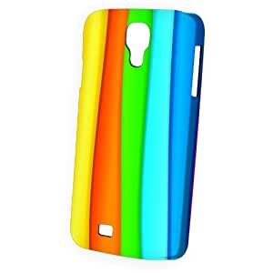 Case Fun Samsung Galaxy S4 (I9500) Case - Vogue Version - 3D Full Wrap - Rainbow Stripes Style 2