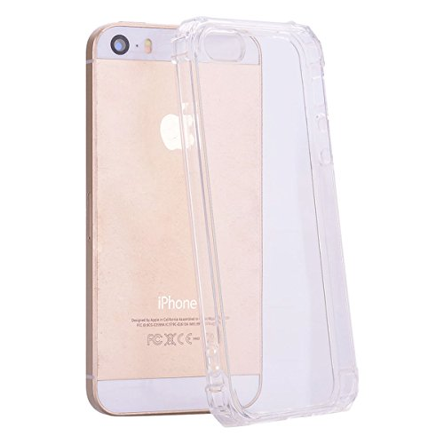 iPhone SE Case, KMISS [Crystal Shell] Lightweight Transparent Premium Protective Case Bumper Cover Integrated Shock-Absorbing Anti-Scratch Protective Case iPhone SE/5/5S (Clear)