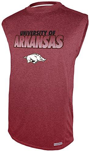 Impact Sleeveless (NCAA Arkansas Razorbacks Sleeveless Impact Tee, Cardinal, Large)