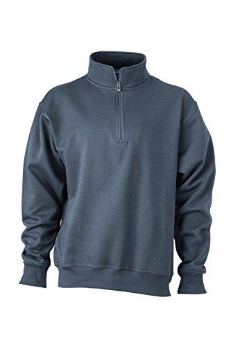 Montant Demi zip Col Carbone Sweat 2store24 Et shirt Avec Zip Travail De vzIwBq