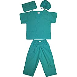 Kids Doctor Dress up Surgeon Costume Set, 2T/3T, Surgical Green
