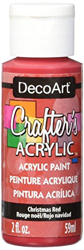 Christmas Paint - DecoArt Crafter's Acrylic Paint, 2-Ounce, Christmas Red