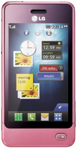 LG GD510 Unlocked GSM Quad-Band Cell Phone with 3MP camera, Touch Screen, MP3 Player, and Bluetooth - Unlocked Phone - No Warranty - Pink