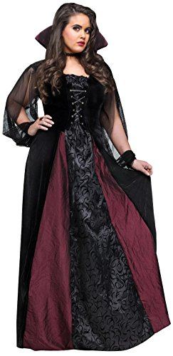 Fun World Men's Goth Maiden Vamp Plsz Cstm, Multi, Plus Size -
