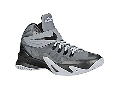 19c996f5c305f Image Unavailable. Image not available for. Color  Nike Lebron Zoom Soldier  8 GS Black Gray