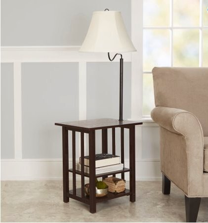 3-Rack End Table Floor Lamp, Espresso Finish (Cannot ship to California residents)