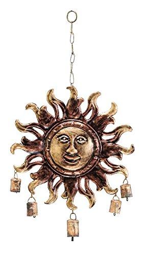 Benzara Metal Sunface Windchime in Modern Age Fashion ()