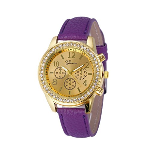 Ruhiku GW Wristwatch, Faux Chronograph Quartz Classic Round Ladies Women Crystals Watch - Brand Expensive Is An Guess
