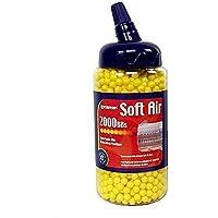 Crosman Airsoft 2,000 CT. Feeder Bottle Neon Green Airsoft BBS (6mm, 0.12g)