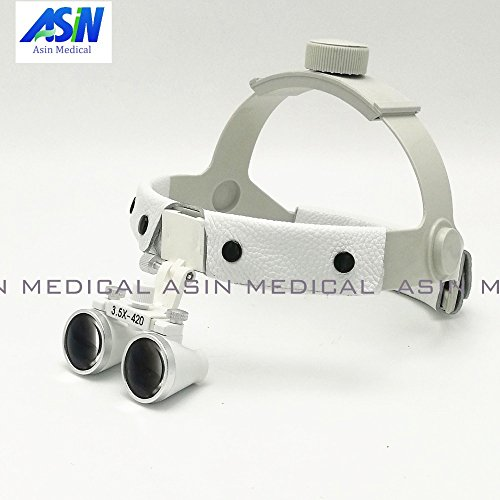 Portal Cool 3.5 x Headset Dental Loupe Magnifier Head wear Surgical loupes Surgeon Medical enlarging Lens Surgical Magnifier: White