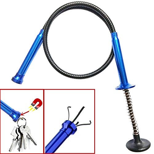 Stereotype four-claw magnetic gripping tool ,Claw Magnetic Pick-up Tool , light stainless steel spring can be fixed in different shapes without bounce 2 in 1 magnetic pickup