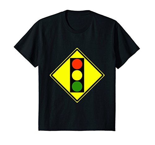 Kids Traffic Light Ahead Sign Simple Halloween Costume T-Shirt 6 (Halloween Costumes Appropriate For Teacher)