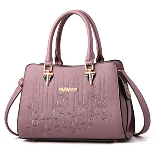de de d'épaule à dames cuir bandoulière de de Light à femmes en sacs main grande Purple broderie capacité Sacs élégants pour Sacs main des à ZBxp1Zw