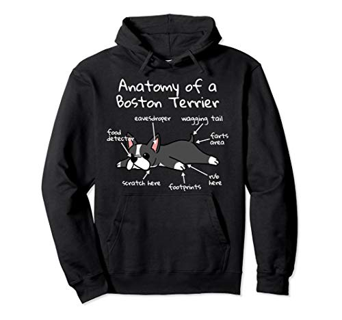 Anatomy Of A Boston Terrier Funny Dog Gift  Pullover Hoodie