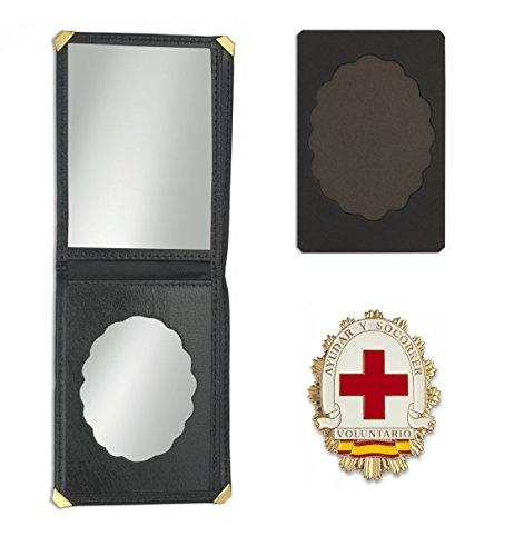 Outletdelocio. Cartera identificacion con Placa Voluntario Cruz Roja. 3 Compartimentos y Esquinas reforzadas 4