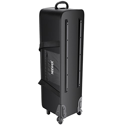 Neewer Photo Studio Equipment Rolling Bag Trolley Carrying Case with Padded Compartment for Light Stand, Tripod, Strobe Light, Umbrella, Photo Studio etc(NW-B01) by Neewer