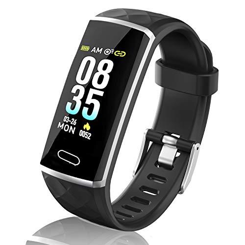 LOZAYI Pulsera de Actividad, Pulsera Actividad Inteligente, IP67, Reloj Inteligente para Mujer y Hombre, con Pulsómetro…