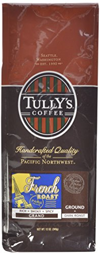 Tully's Coffee French Roast, Ground, 12-Ounce Bags (Pack of 2)