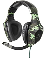 SADES SA810 Gaming Headset for New Xbox One, PS4 Controller,3.5mm Wired Over-ear Noise Isolating Mic Volume Control for MAC/PC/PS4/Xbox One/Computer/Phones(Camouflage)