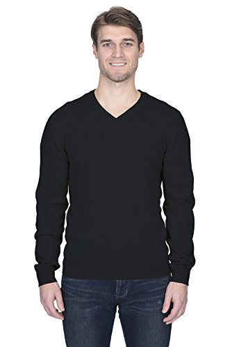 Malo Cashmere Sweater (State Fusio Men's Cashmere Wool Long Sleeve Pullover V Neck Sweater Premium Quality)