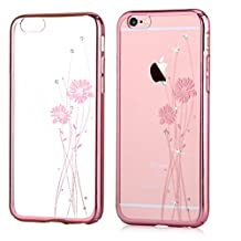 Iphone 6 Case & Iphone 6s Case ,Comma® Cystal Balle Design Case for Iphone 6 Case & Iphone 6s Case , Beautiful Design (Rose Pink(ballet))