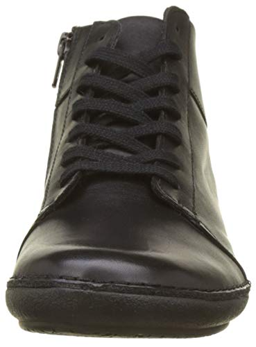 De Kickers Para Zapatos noir Brogue Mujer Fowno Negro Cordones 8 rrBEwAaq