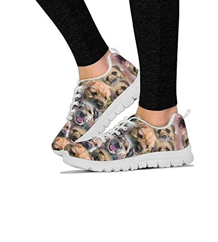 Running Casual Shoetup Pattern All Your Shoes Women's Terrier Border Choose Print Women's Dog Breed Sneakers ARAwx8q0