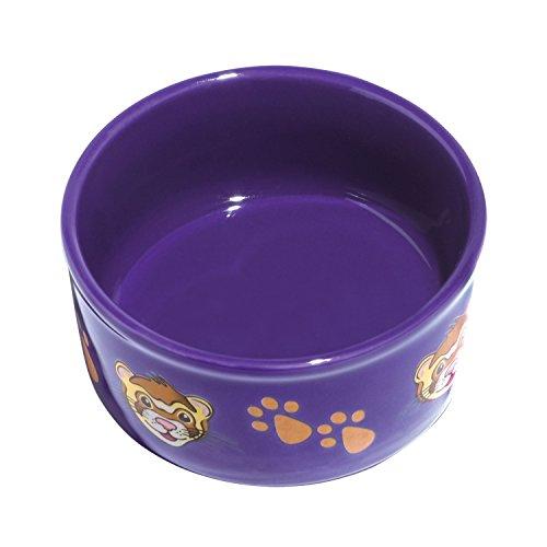 Prints Paw Ceramic Bowl - Kaytee Paw-Print PetWare Bowl, Ferret, Colors Vary