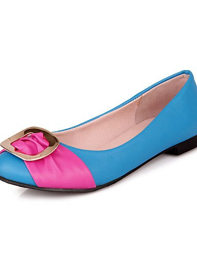 Peach-us9.5-10   eu41   uk7.5-8   cn42 DFGBDFG PDX femme Chaussures Talon Plat Confort Bout fermé appartements extérieur bureau & carrière décontracté Noir bleu jaune rose corail