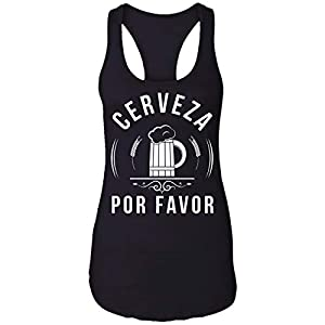 Cerveza por Favor Beer Funny Drinking Craft Brewers Gift Racerback Tank Top