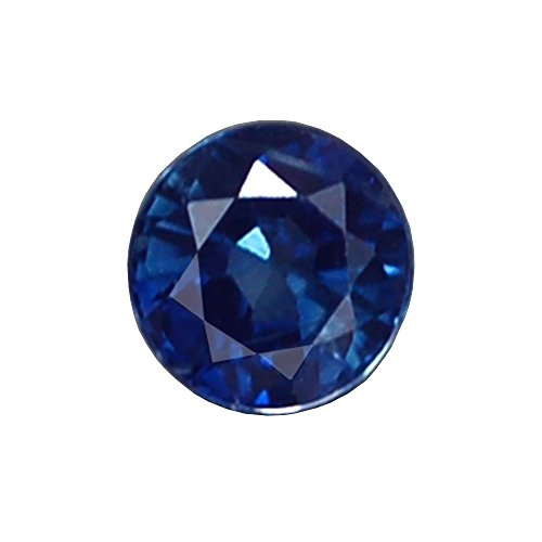 STUNNING AA ROUND HEATED ONLY BLUE THAILAND SAPPHIRE NATURAL (Heated Round Blue Sapphire)