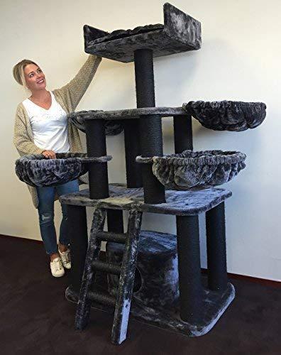 Rascador grandes gato XXL BLACK PANTHER Plus 12 cmØ kratz troncos de 100 x 60 x ...