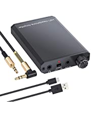 eSynic Amplificador de Auriculares Portátil HiFi 3.5mm Audio Jack con Batería de Litio y Cascara de Aluminiopara Teléfonos MP3 MP4 Reproductores Digitales y Ordenadores