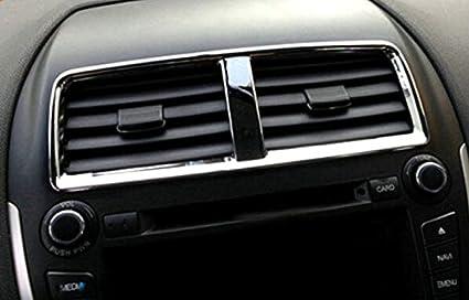 ABS cromo interior aire acondicionado Vent Outlet centro consola cubierta Trim 1pcs para coche accesorios: Amazon.es: Coche y moto