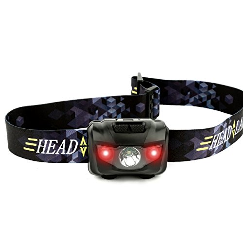 Ultra Bright CREE LED Headlamp - Great For Running Camping Hiking Hunting Dog Walking Cycling Night Fishing Working Outdoor Sport and More