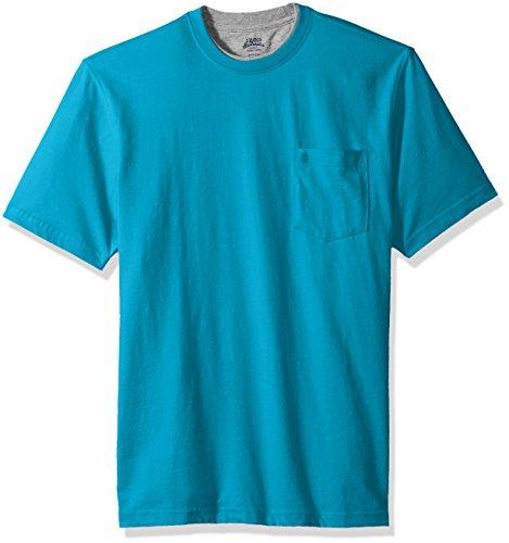 Izod Cotton Shirt - IZOD Men's Doubler Crew Neck Solid Short Sleeve Tee, Algiers Blue, XX-Large